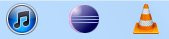 Eclipsed docked in the taskbar